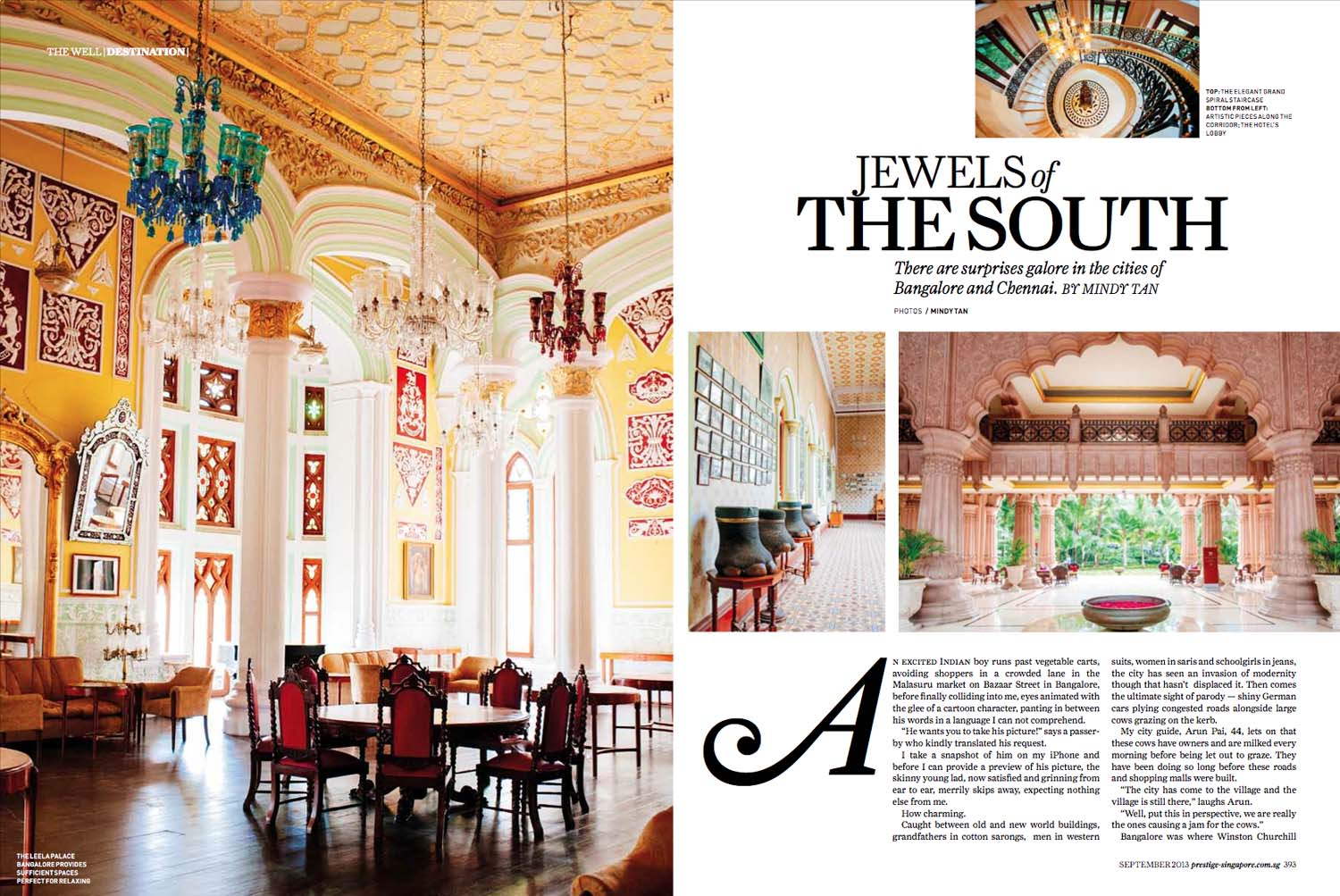 Leela Palace Magazine Editorial | MINDY TAN PHOTOGRAPHY Singapore Lifestyle Travel Portrait Documentary Photographer Writer