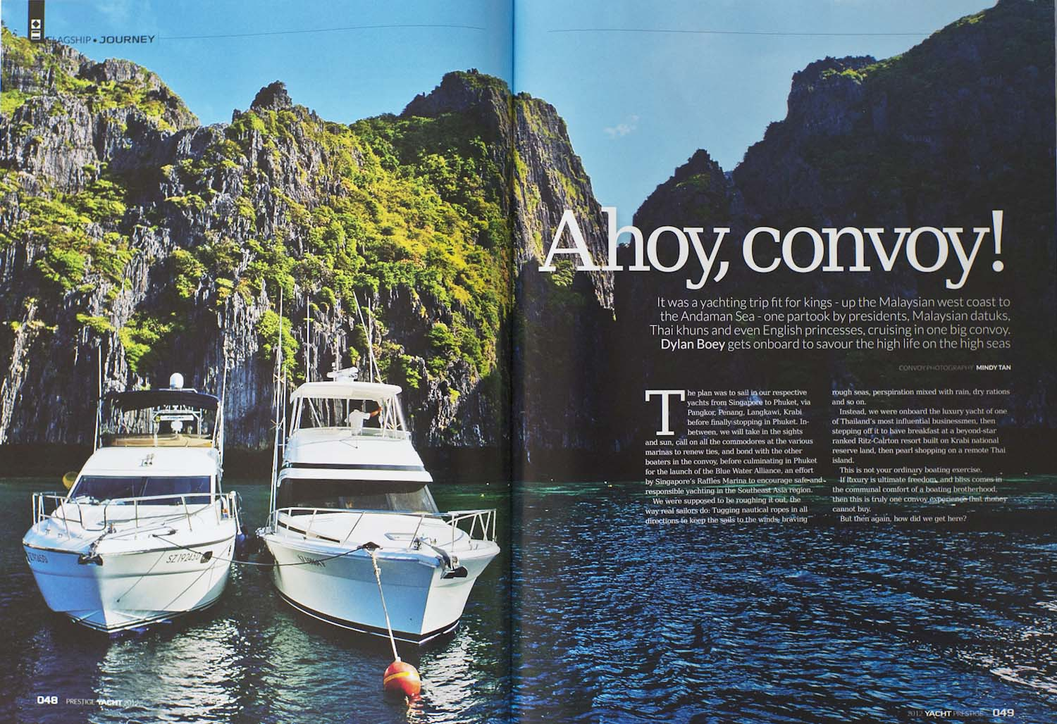 PRESTIGE-Yacht-Magazine Editorial | MINDY TAN PHOTOGRAPHY Singapore Lifestyle Travel Portrait Documentary Photographer Writer